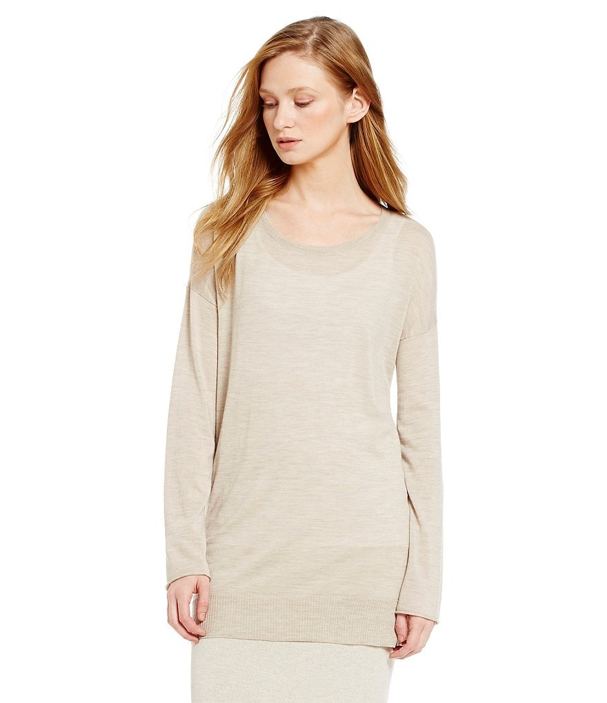 Eileen Fisher Petites Round Neck Boxy Tunic
