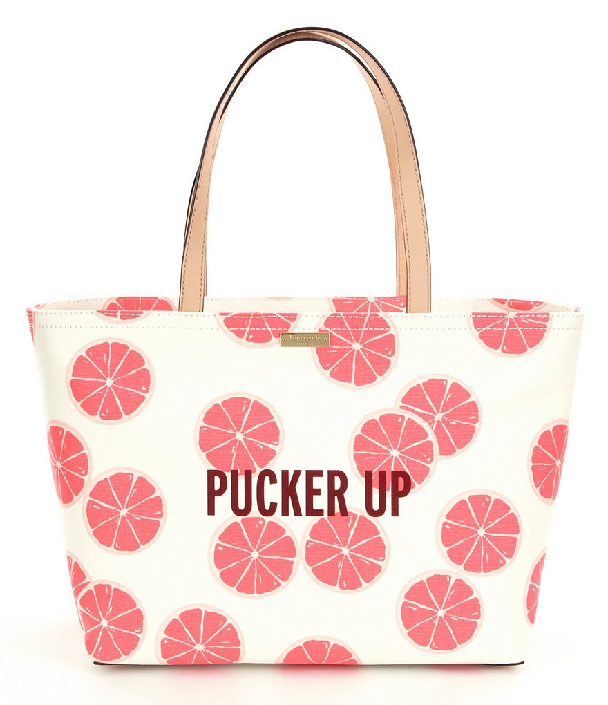 kate spade new york Flights of Fancy Collection Pucker Up Francis Canvas Tote