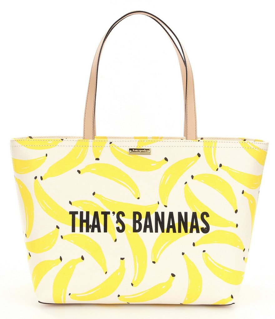 kate spade new york Flights of Fancy Collection Francis That´s Bananas Canvas Tote