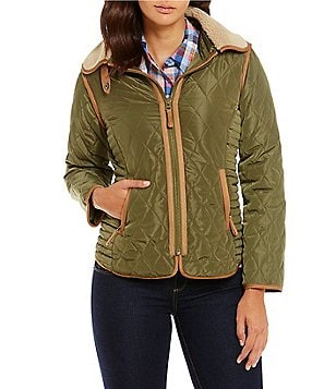 Cremieux Kala Quilted Jacket with Faux-Fur Collar