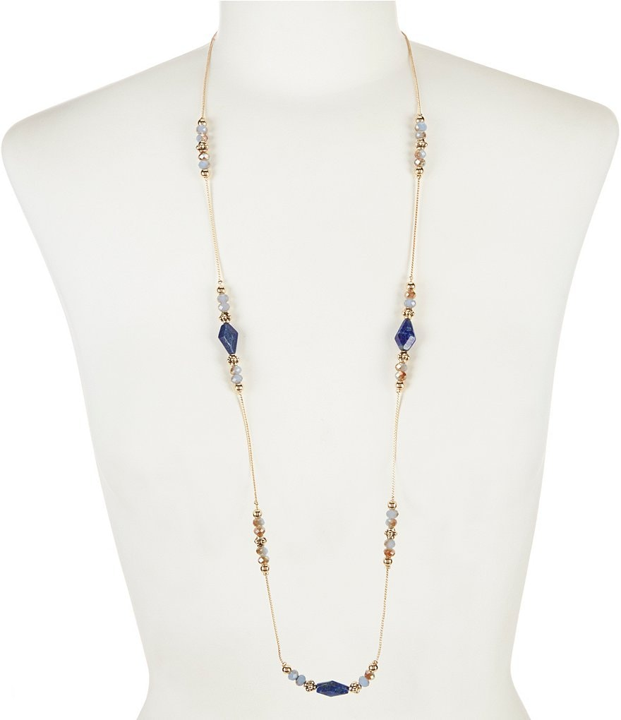 Dillard´s Tailored Long Bead Station Necklace