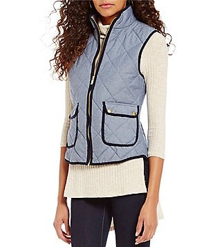 Cremieux Kim Chambray Quilted Vest
