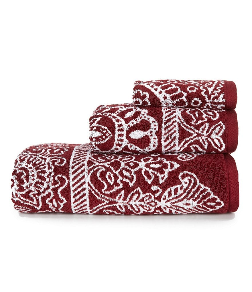 Noble Excellence Arcadia Baroque Jacquard Cotton Bath Towels