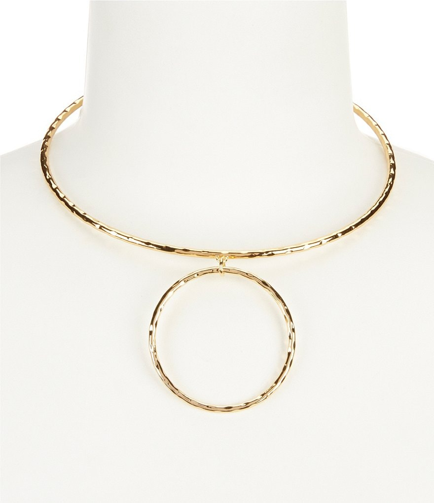 Lauren Ralph Lauren Bali Hammered Choker Collar Necklace