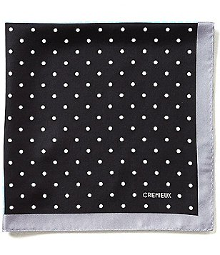 Cremieux Four Site Dotted Pocket Square