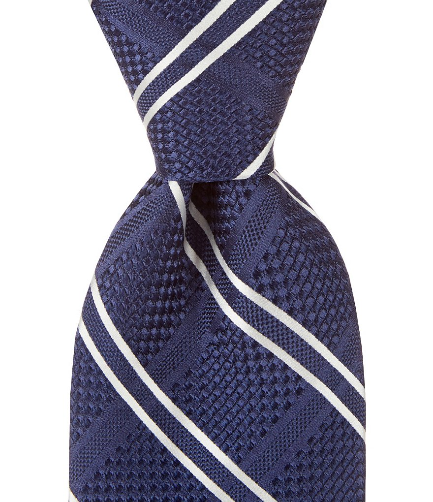 Hart Schaffner Marx Big Grid Traditional Silk Tie