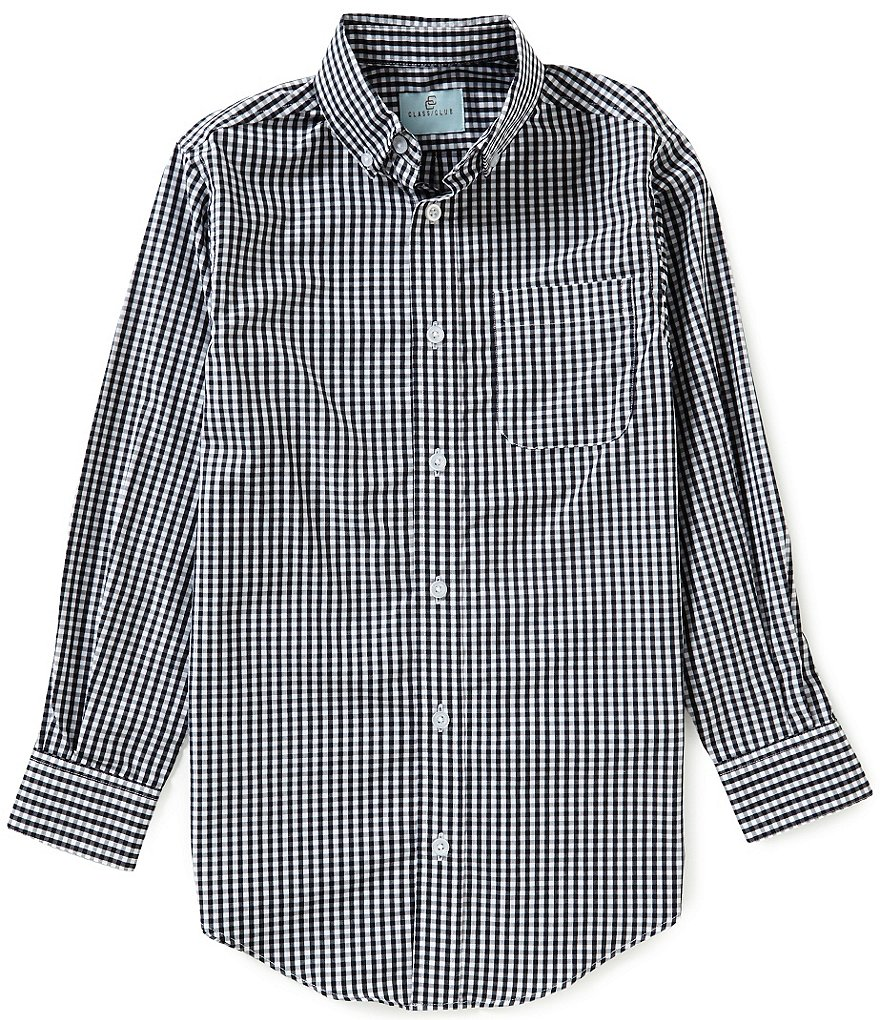 Class Club Big Boys 8-20 Gingham Woven Shirt