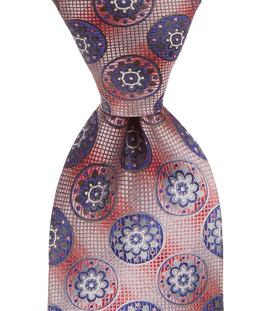 Murano Gear Medallion-Print Narrow Tie