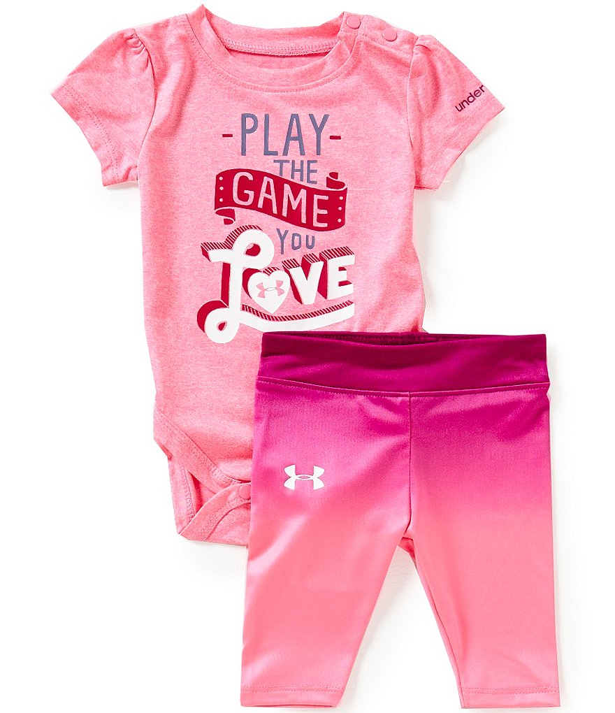 Under Armour Baby Girls Newborn-12 Months Play The Game You Love Tee & Pant Set
