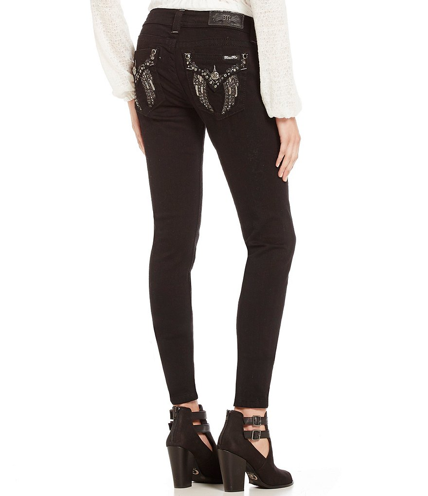Miss Me Angel Wing Pocket Skinny Jeans