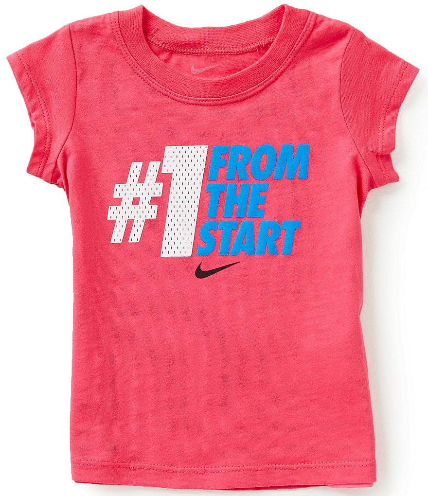 Nike Baby Girls 12-24 Months #1 From The Start Short-Sleeve Tee