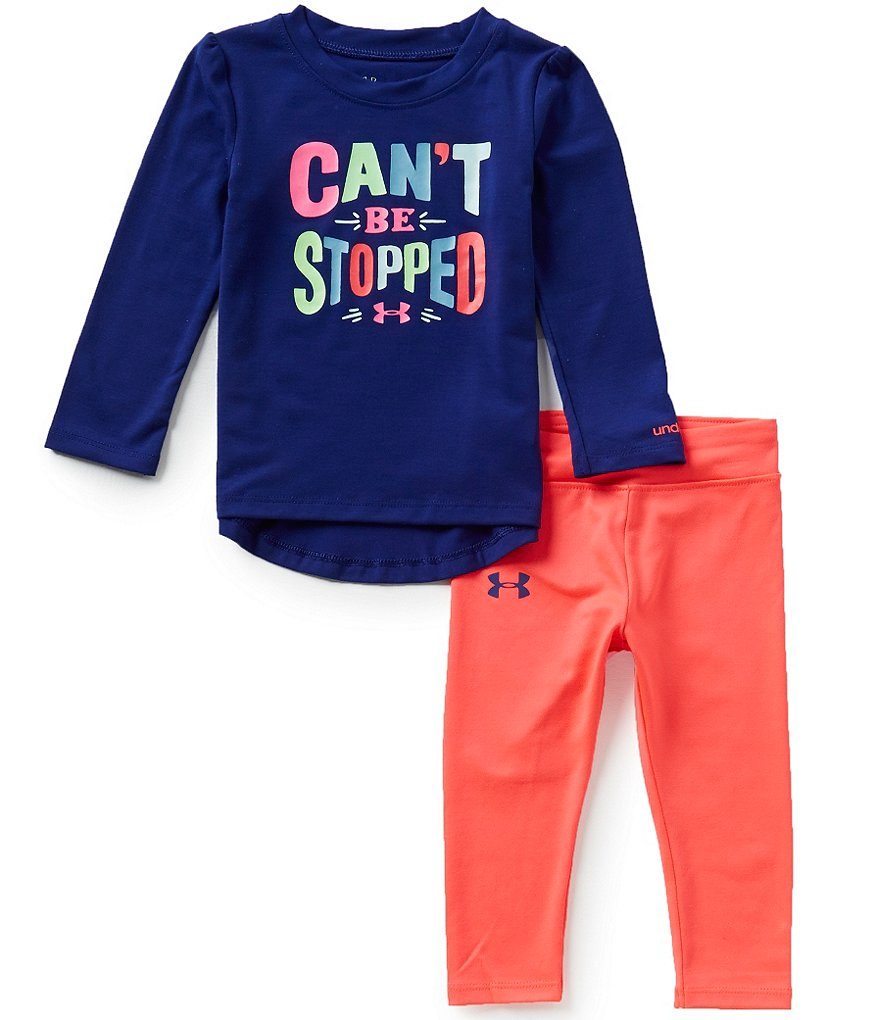 Under Armour Baby Girls 12-24 Months Can´t Be Stopped Tee & Leggings Set