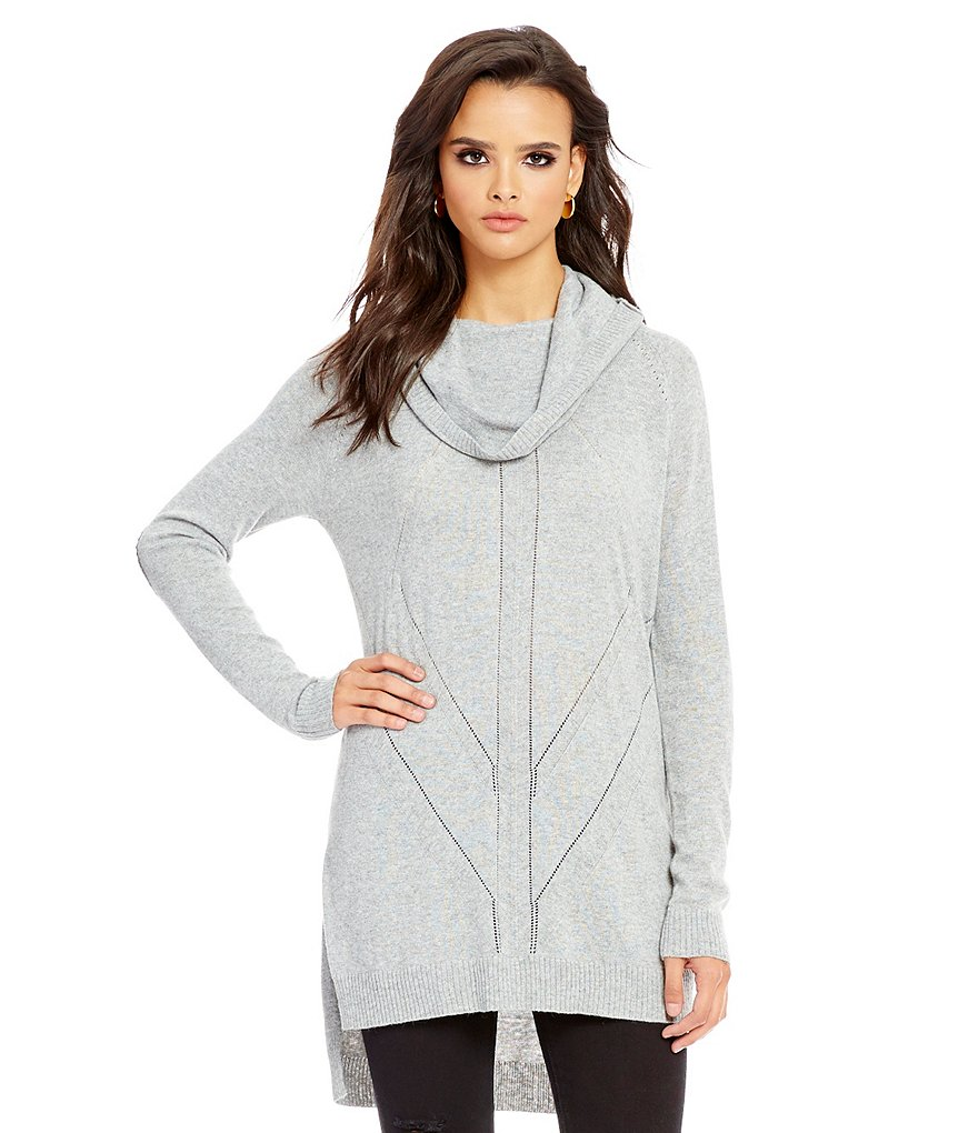 Buffalo David Bitton Cowl Neck Tunic Sweater