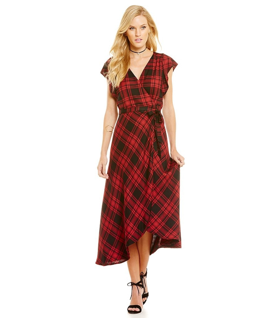 Sanctuary Cassadei Plaid Maxi Dress