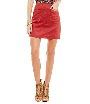 Sanctuary Serina Faux Suede Skirt