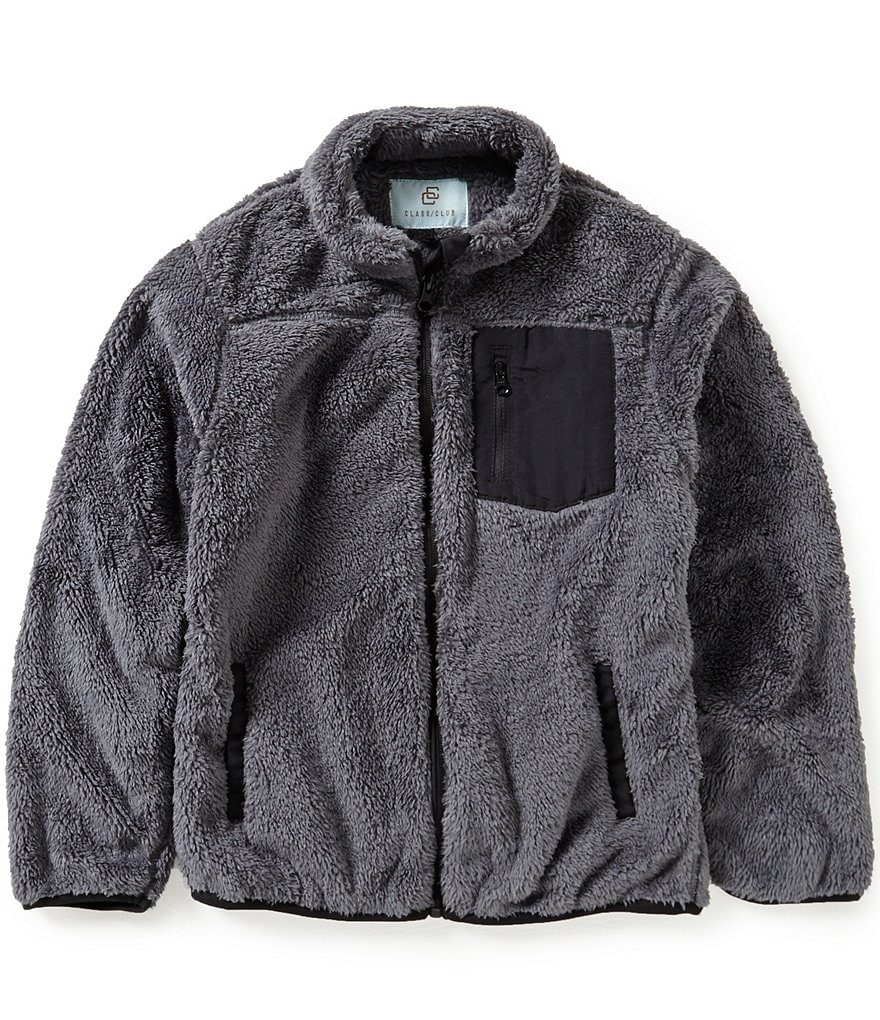 Class Club Big Boys 8-20 Mock Neck Soft Jacket