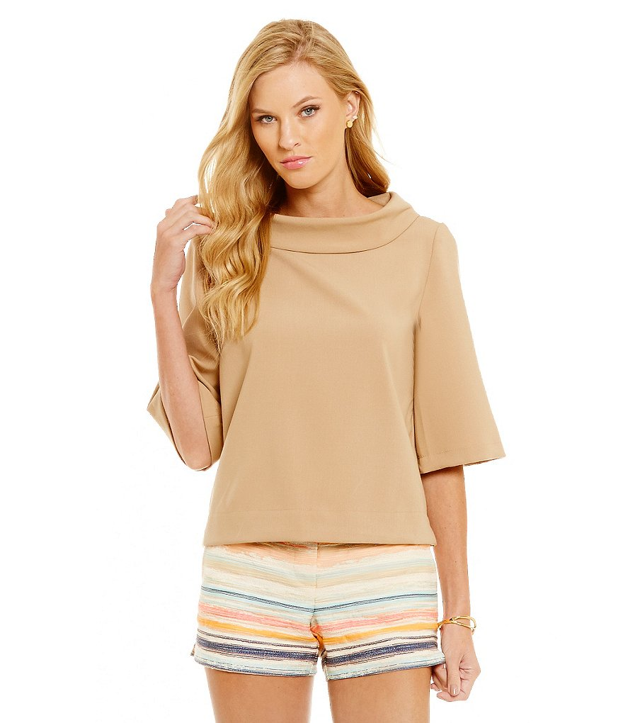 Trina Turk Kailee Mock Neck Top