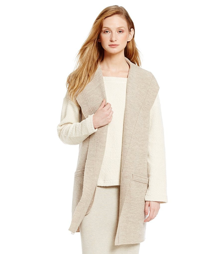 Eileen Fisher Petites Funnel Neck Vest
