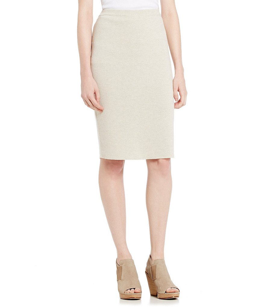 Eileen Fisher Petites Wool Crepe Skirt