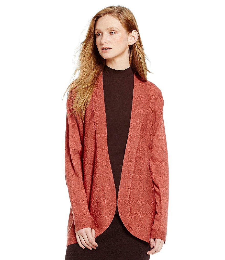 Eileen Fisher Petites Tencel Oval Cardigan