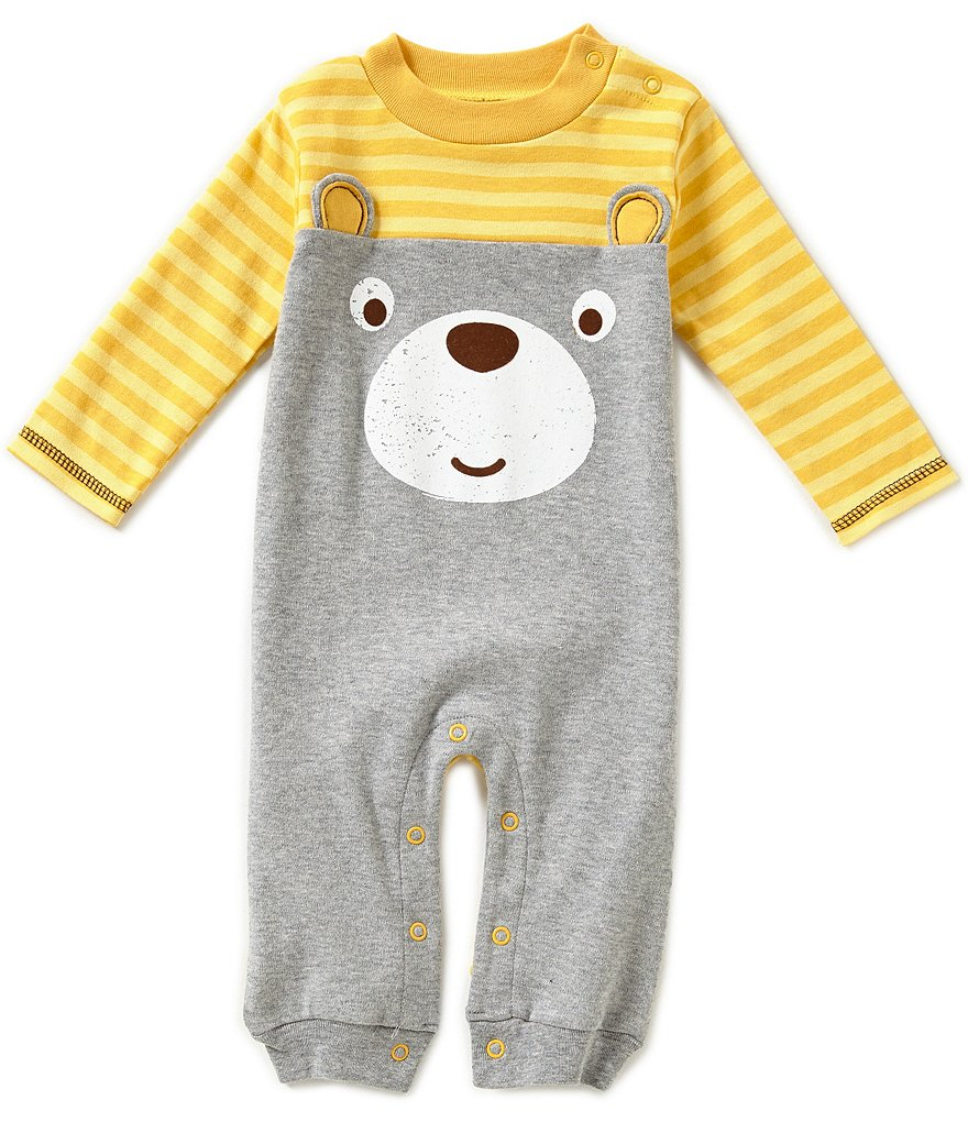 Baby Starters Baby Boys 3-12 Months Bear Face Interlock Coveralls