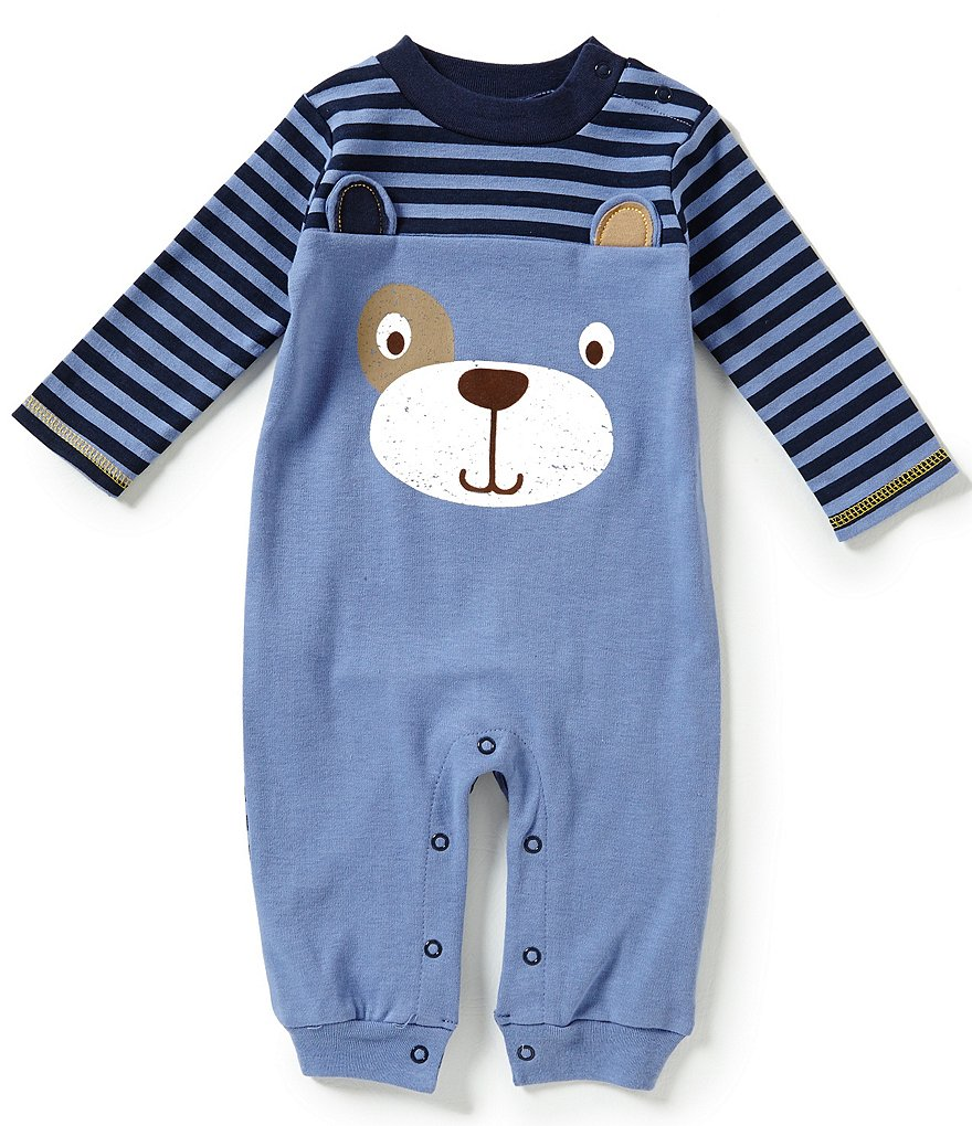 Baby Starters Baby Boys 3-12 Months Dog Face Interlock Coveralls