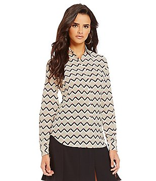 Trina Turk Kadence Woven Long Sleeve Top