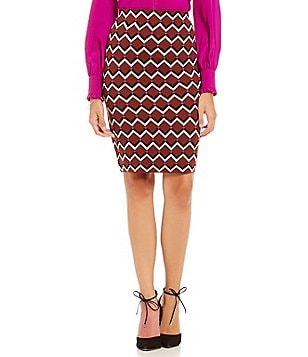 Trina Turk Fanciful Chevron Pencil Skirt