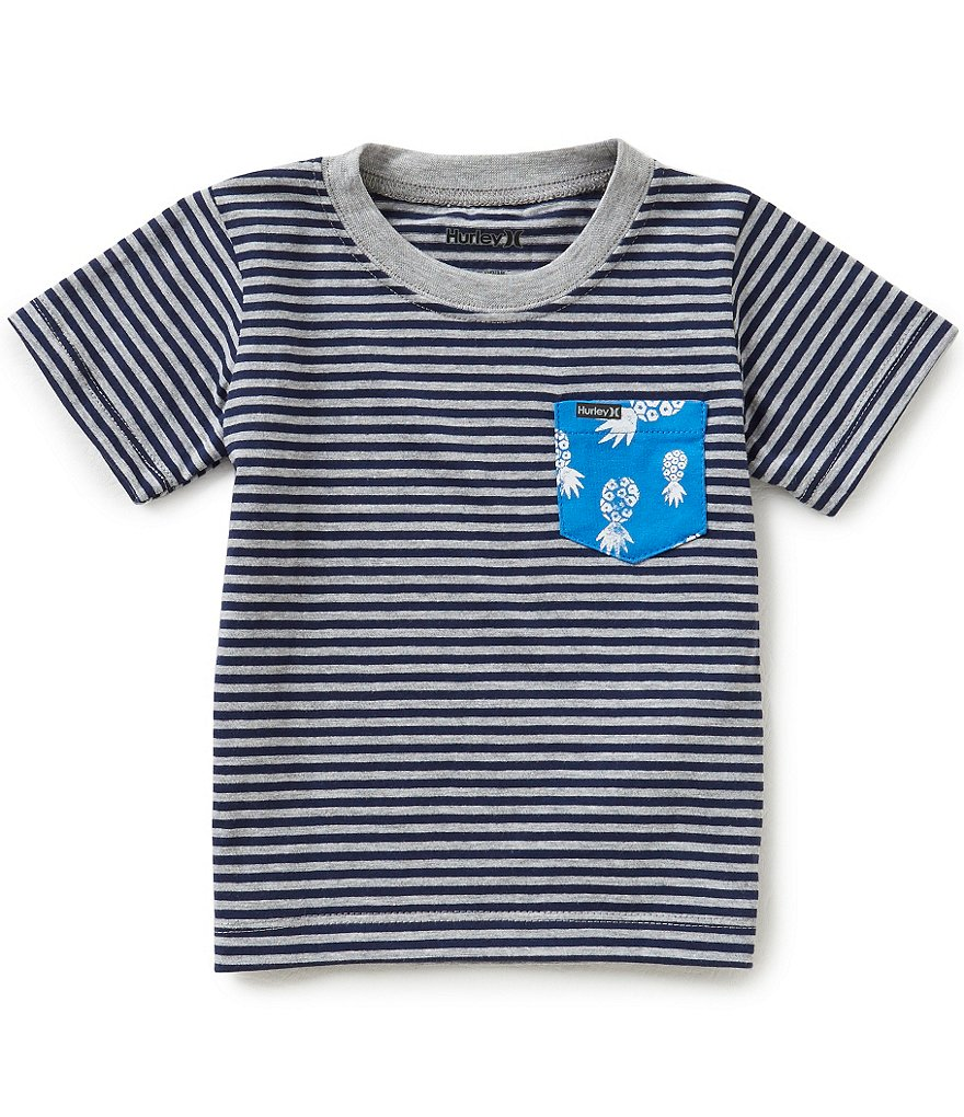 Hurley Baby Boys 12-24 Months Pocket Pop Striped Short-Sleeve Tee