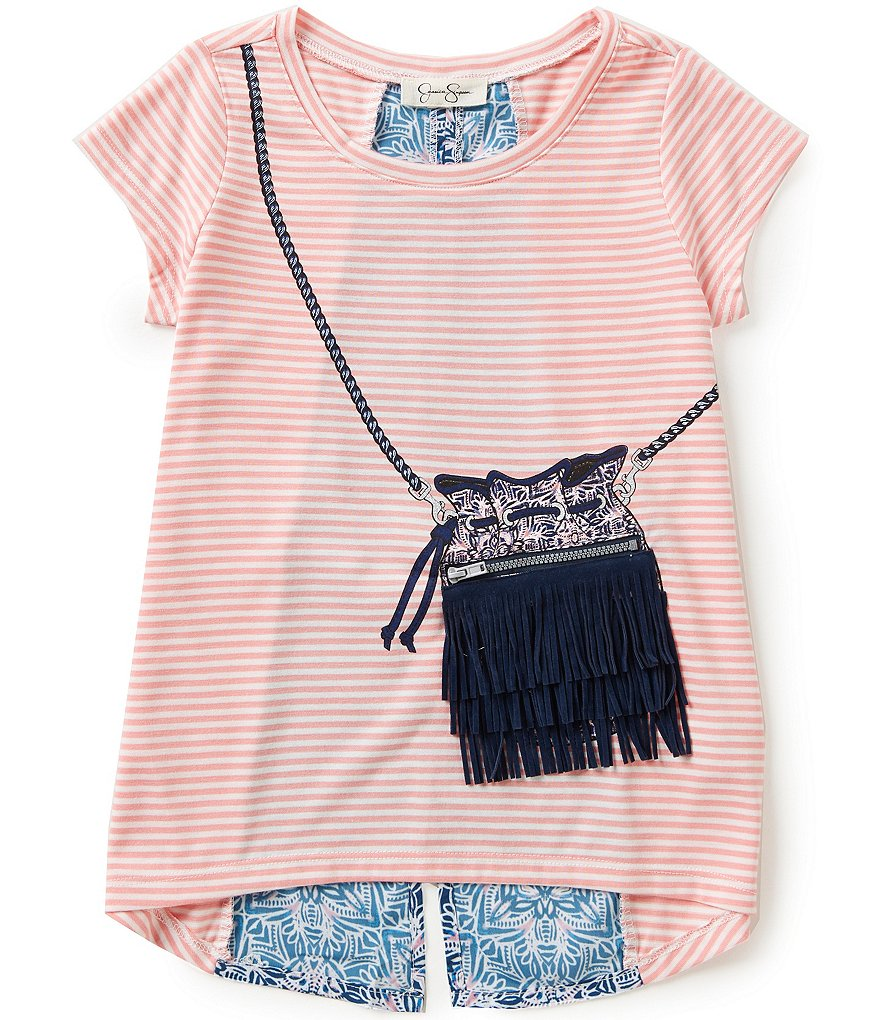 Jessica Simpson Big Girls 7-16 Nora Gypsy Fringe Tee