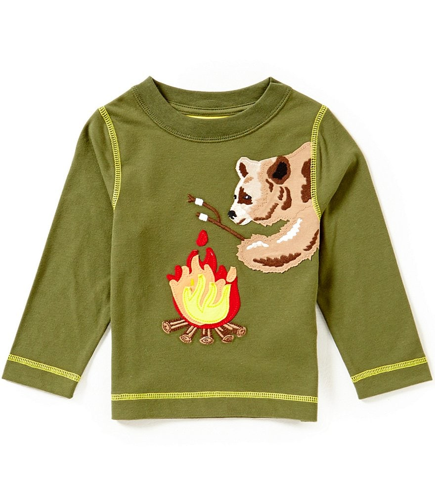 Adventure Wear by Class Club Little Boys 2T-6 Bear Appliqué Long-Sleeve Tee