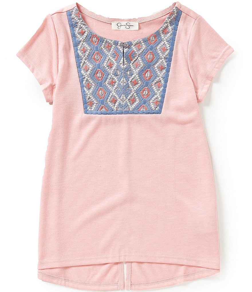 Jessica Simpson Big Girls 7-16 Naveah Embroidery Tee