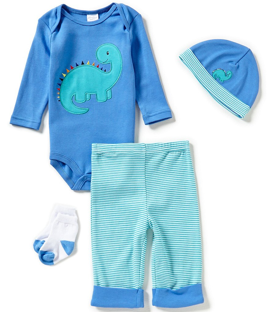 Starting Out Baby Boys Newborn-9 Months Dino 4-Piece Layette Set