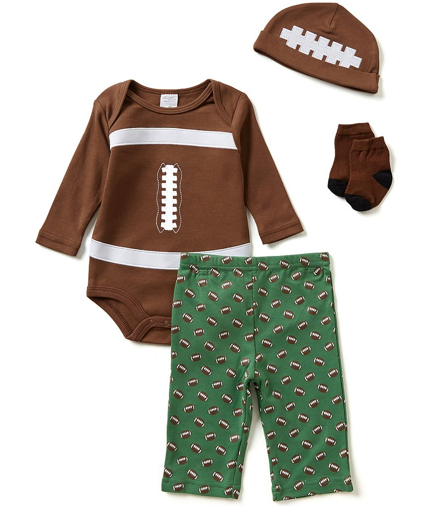 Starting Out Baby Boys Newborn-9 Months Football 4-Piece Layette Set