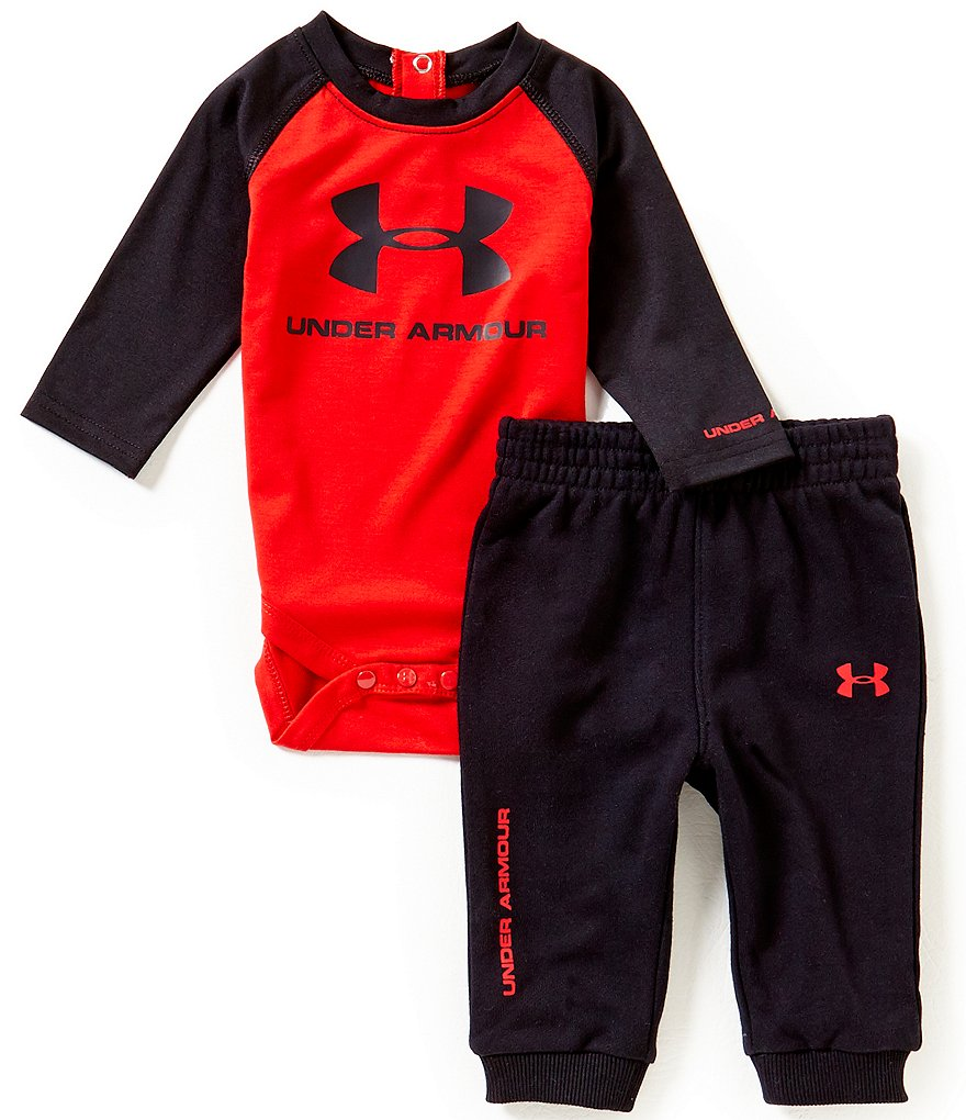 Under Armour Baby Boys Newborn-12 Months Core Bodysuit & Solid Pants Set