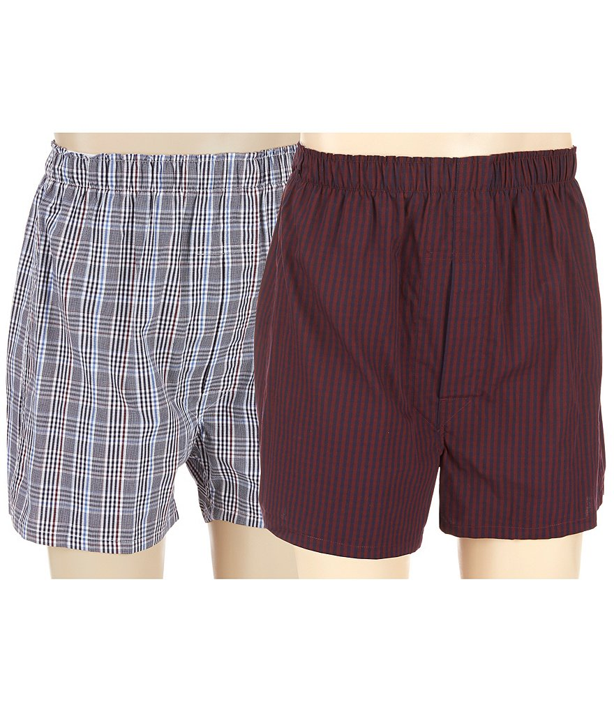 Roundtree & Yorke 2-Pack Plaid Full Cut Boxers