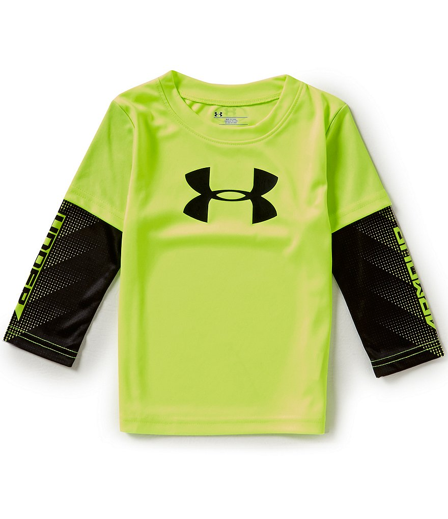 Under Armour Baby Boys 12-24 Months Big Logo Power Slider Interlock Tee