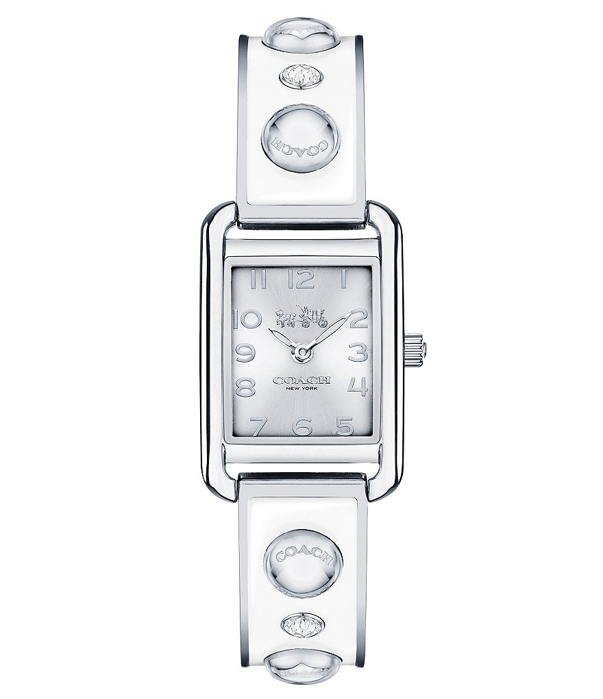 COACH THOMPSON RECTANGULAR BANGLE WATCH