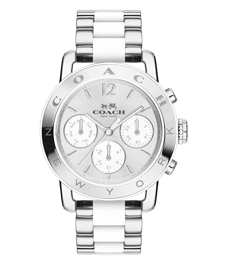 COACH LEGACY SPORT STAINLESS STEEL BRACELET WATCH