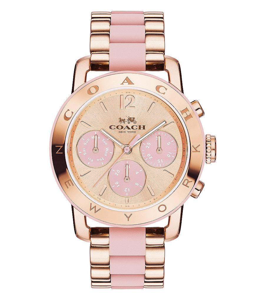 COACH LEGACY SPORT ROSE GOLD BRACELET WATCH