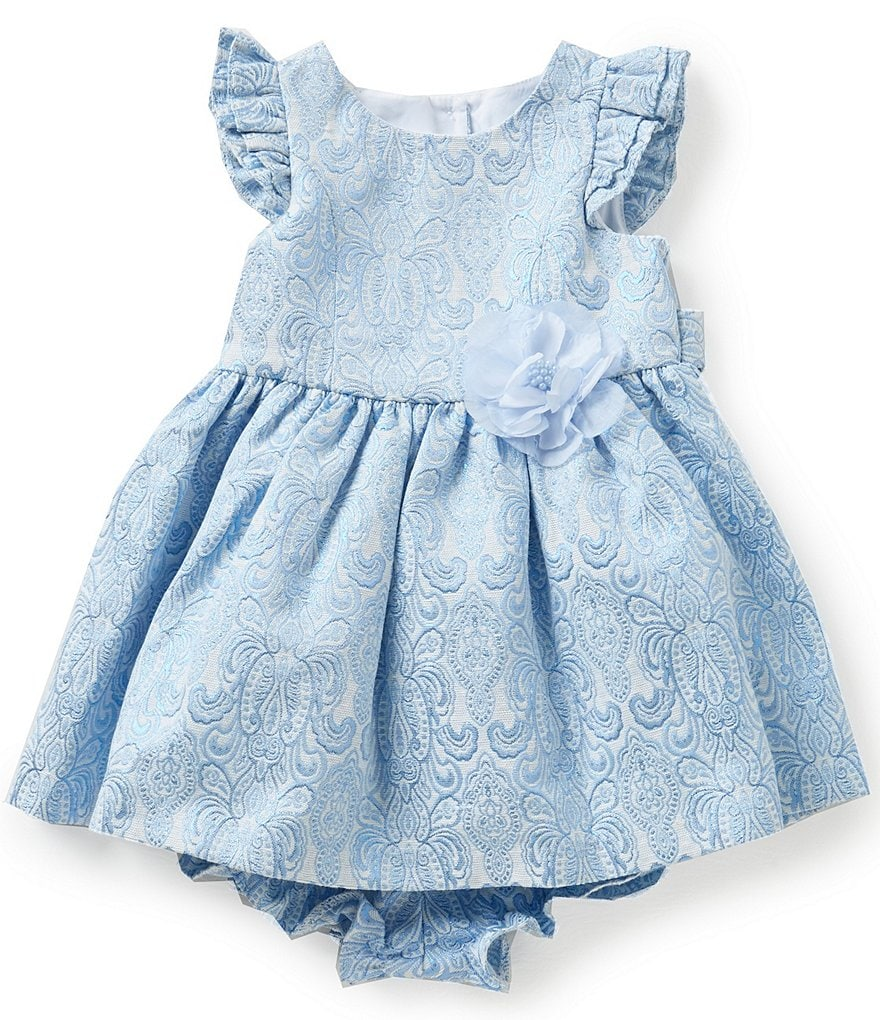 Laura Ashley London Baby Girls 12-24 Months Brocade Floral Dress