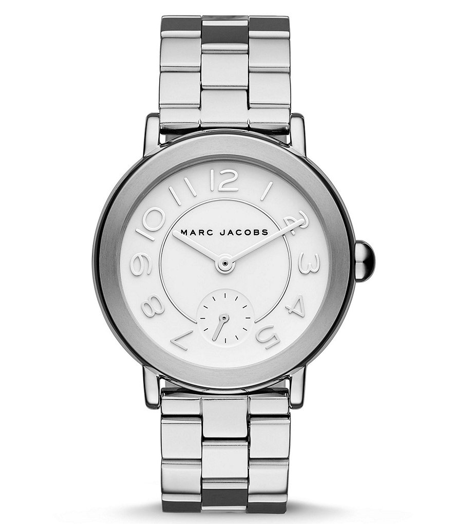 Marc Jacobs Riley 3 Hand Analog Stainless Steel Bracelet Watch