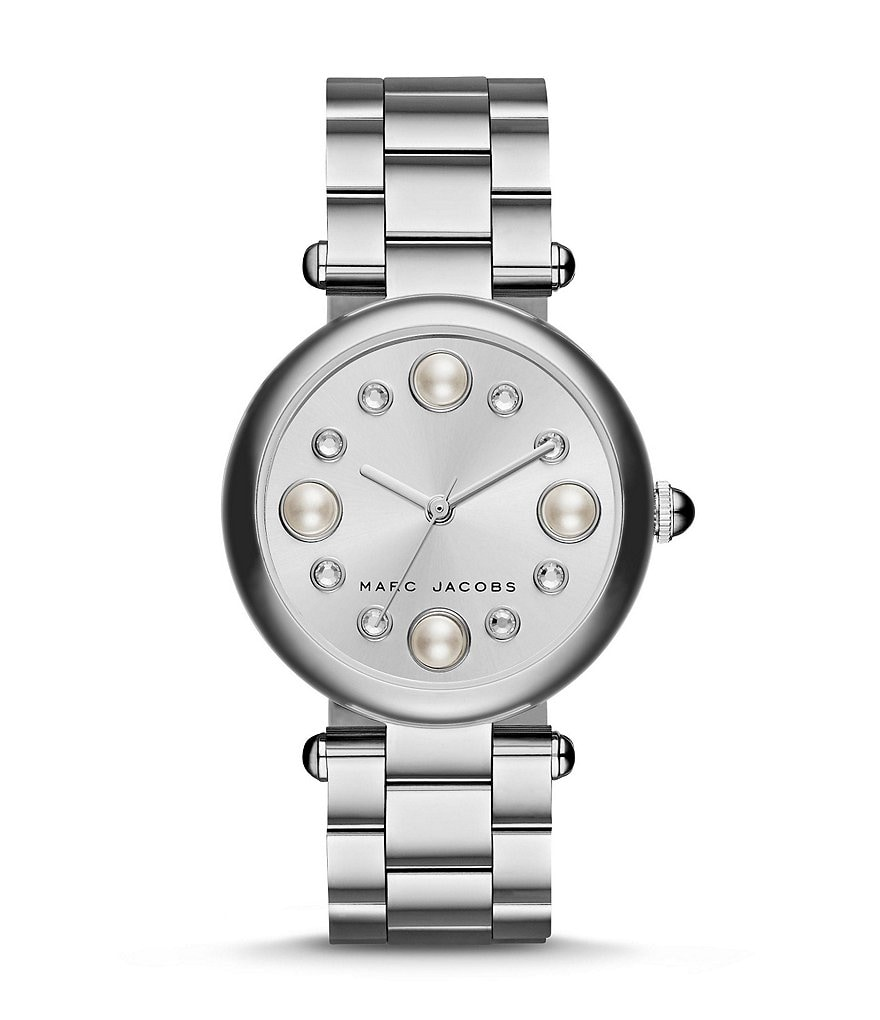 Marc Jacobs Dotty 3-Hand Analog Stainless Steel & Crystal Bracelet Watch