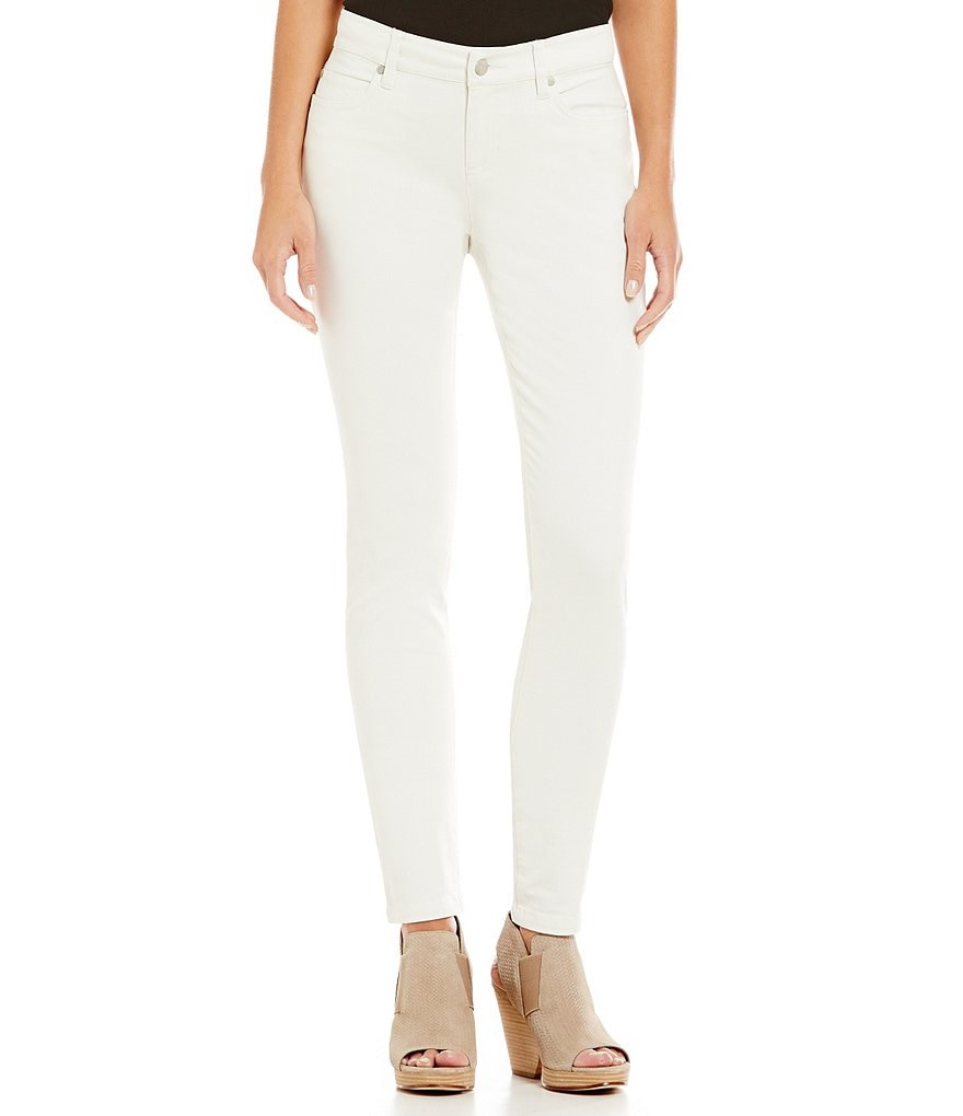 Eileen Fisher Sueded Sateen Skinny Jeans