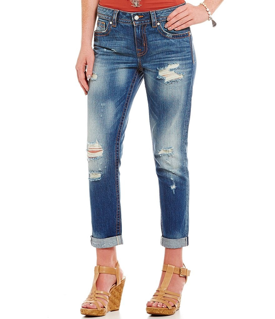 Miss Me Distressed Ankle Boyfriend Jeans