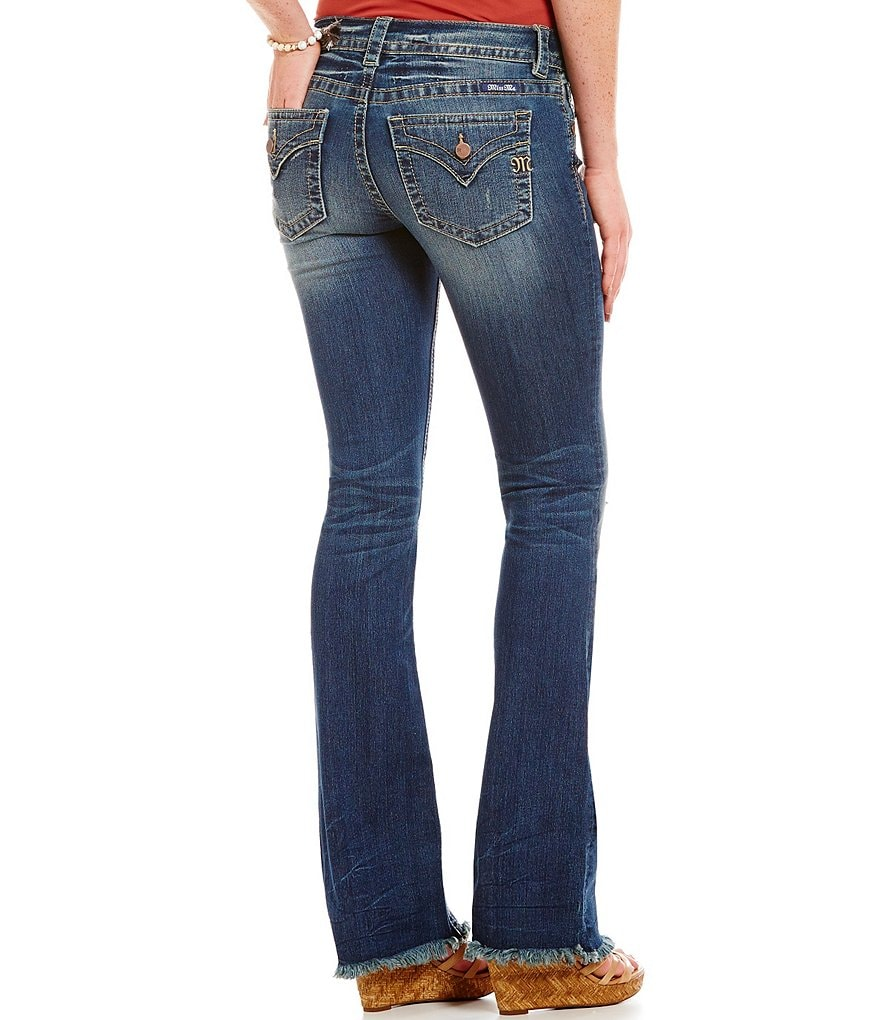 Miss Me Simple Flap Pocket Distressed Bootcut Jeans