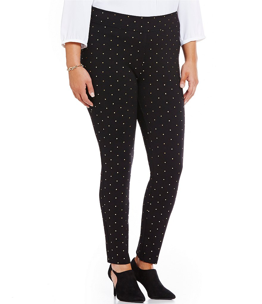 Bianca Nygard Plus Slims Dotted Leggings