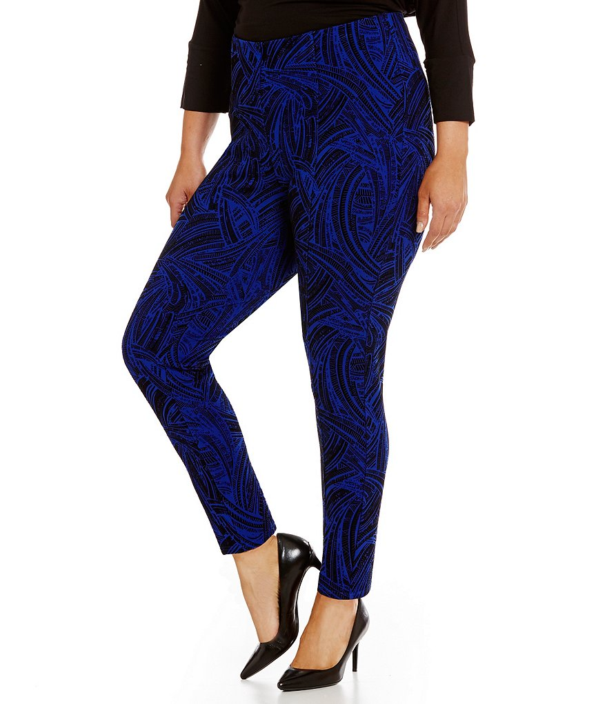 Nygard Slims Plus Luxe Flocked Leggings
