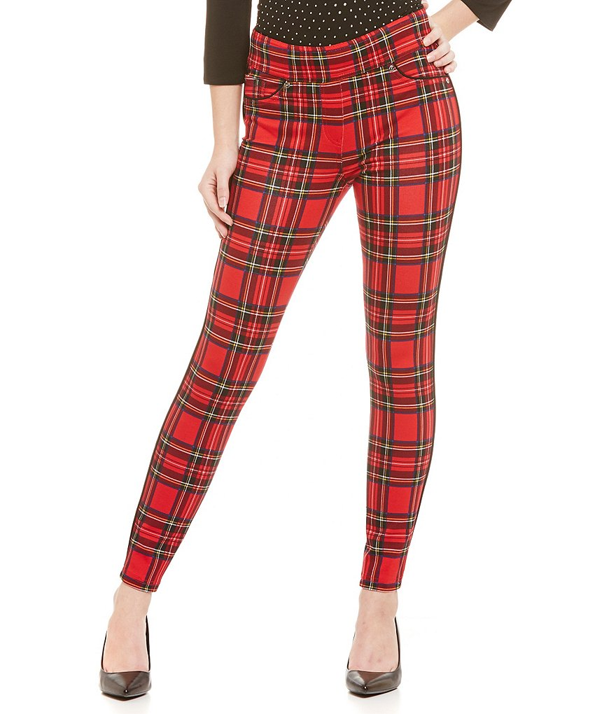Bianca Nygard Petites Slims Plaid Ponte Knit Jeggings
