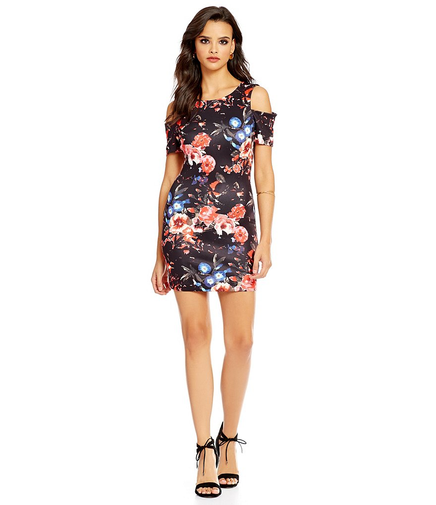 devlin Ellen Cold-Shoulder Garden Dress